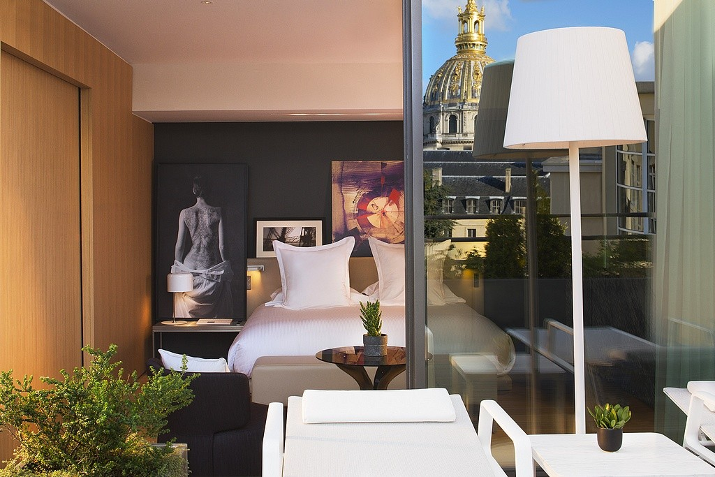 hotel privatif paris le cinq codet prestige chambre couple