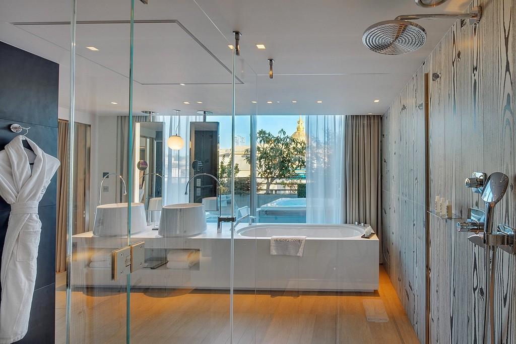 hotel privatif paris le cinq codet prestige salle de bain spa