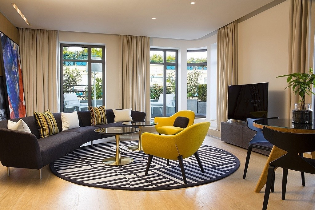 hotel privatif paris le cinq codet prestige salon couple