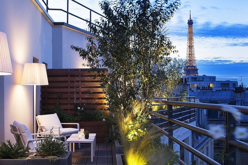 hotel privatif paris le cinq codet prestige terrasse jacuzzi