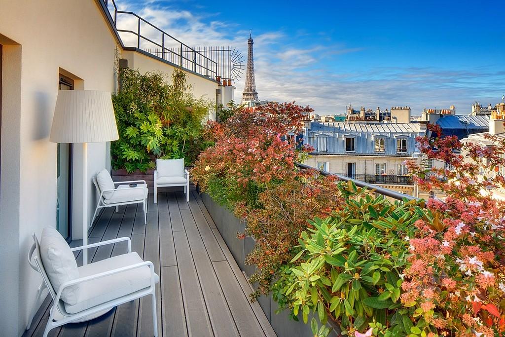 hotel privatif paris le cinq codet prestige terrasse prive