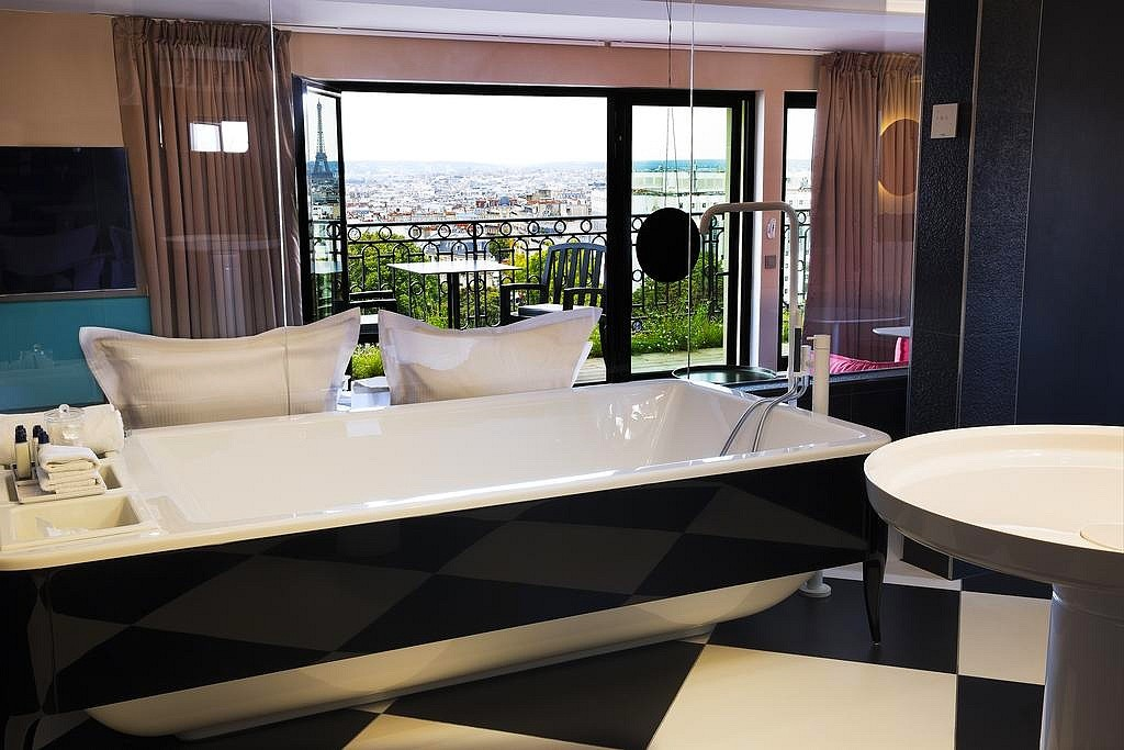 hotel privatif paris terrass jacuzzi vue tour eiffel