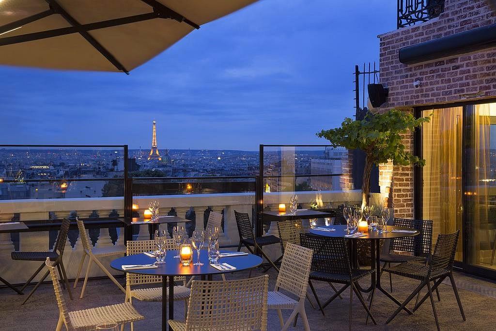 hotel privatif paris terrass romantique vue tour eiffel