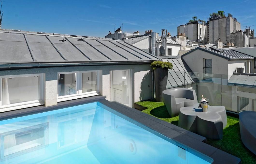 1k hotel avec piscine chauffee privée paris