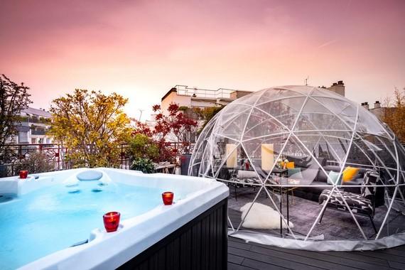 sauna hammam privatif hotel felicien by elegancia